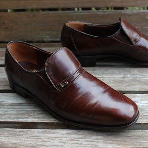 Vtg Dack's Brown Kangaroo Leather Slip-On, 11.5 B